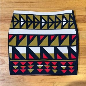 RACHEL RACHEL ROY Boho Geo Print Mini Skirt